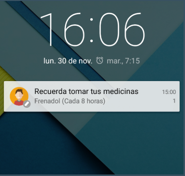widget recordatorio