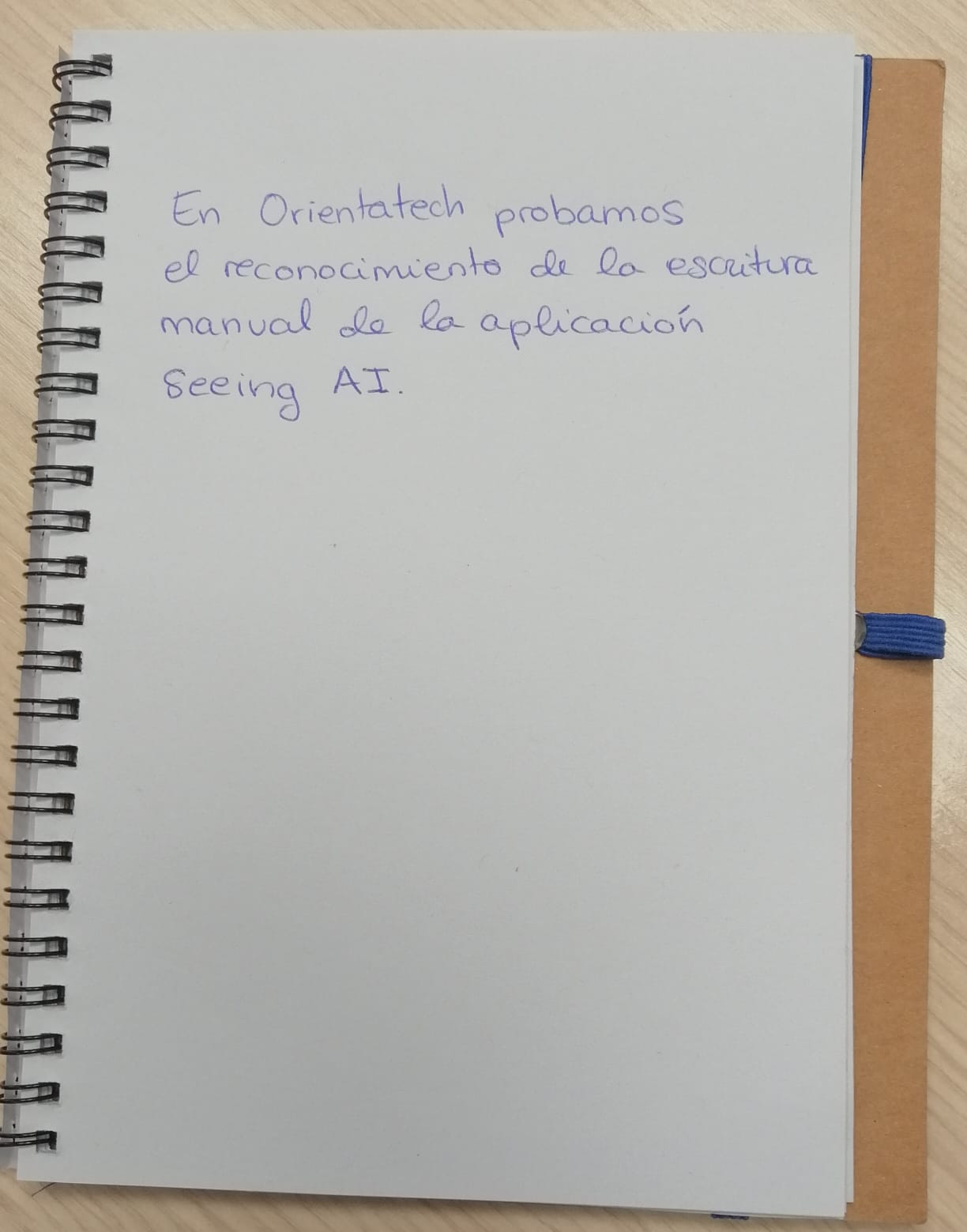 Photograph of a notebook